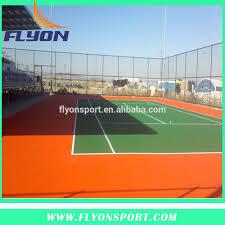 Backyard Tennis Court Cost Outdoor Basketball Court Flooring Cost Home Outdoor Decoration