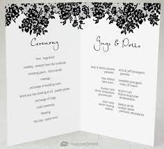 folded wedding program template 2 modern wedding program and templates wedding programs