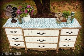 Decorating Ideas For Dresser Top by My Passion For Decor The Stenciled Dresser Challenge