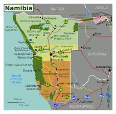 Northern Africa Map by Large Regions Map Of Namibia Namibia Africa Mapsland Maps