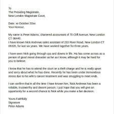 example of a good character letter for court cover letter templates