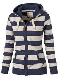 striped zippered hoodie for women stylish hoodie and clothes