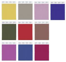Palette Pantone Fall 2014 Color Trends Abandon Typical Palette Threads