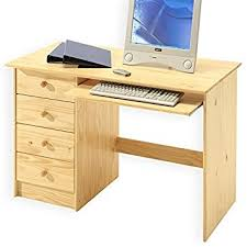 bureau pin bureau enfant multi rangements malte tiroirs et support clavier