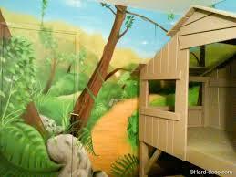 deco chambre enfant jungle incroyable idee deco pour chambre bebe garcon 5 lit cabane avec