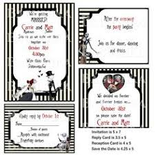 Nightmare Before Christmas Wedding Invitations Classy The Nightmare Before Christmas Inspired Wedding Invitation