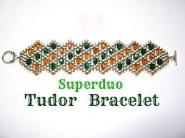 bracelet with beads patterns images Tutorial superduo tudor bracelet pattern twin beads fire jpg