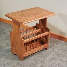 solid oak paddle country style magazine rack end table u2013 14 u2033 x 22