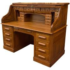 Small Oak Roll Top Desk Exceptional Oversized S Type Oak Roll Top Desk At 1stdibs Within