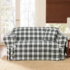 1 piece sure fit loveseat slipcover with wingback for small rustic