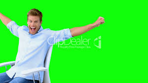 Football Swivel Chair by Man Sitting On Swivel Chair With Raised Arms To Show His Success