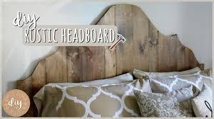 diy bedroom furniture rustic headboard youtube