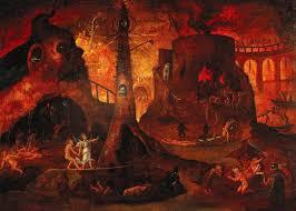 an angel leading a soul into hell art uk