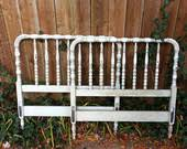 Antique Twin Headboards by Items Similar To Antique Distressed Jenny Lind Twin Headboard