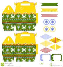 christmas gift box template stock vector image 46960242