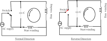 single phase motor wiring diagram with capacitor start capacitor