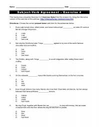 subject verb and pronoun antecedent agreement worksheets the