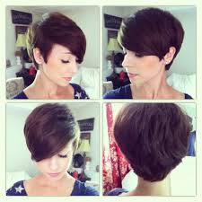 front and back views of chopped hair 35 summer hairstyles for short hair pixie cut pixies and