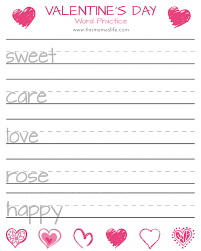 free printable valentine u0027s day counting hearts match up u0026 word