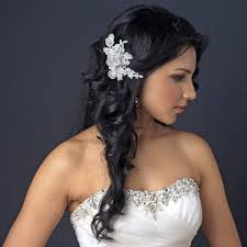 bridal hair clip embroidered ivory floral lace wedding hair clip bridal hair