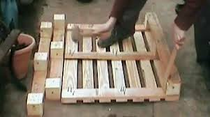 how to knock down a pallet with simple tools make