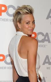 why kaley cucoo cut her hair kaley cuoco rocks punky pompadour at the aspca cocktail party in
