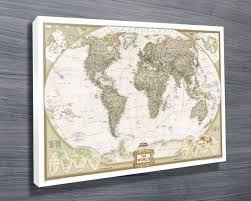Vintage World Map Canvas by Canvas Photo Prints Canvas Art And Wall Art Banksy Art Prints