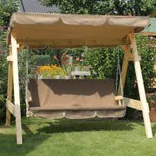 Gazebo Porch Swing by Abba Patio Outdoor Veranda 3 Triple Seater Hammock Canopy Swing