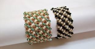 bead weave bracelet images Intermediate bead weaving class bi bo basket weave bracelet jpg