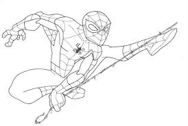 spiderman pictures draw kids coloring