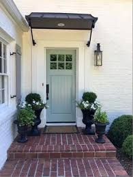 Awning Over Front Door Beautiful English Cottage Front Entry Porch Front Door White