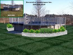 design idea landscaping around above ground pool pictures