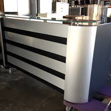 Black Reception Desk Advanced Liquidators Faustino U0027s Reception Desk Silver U0026 Black
