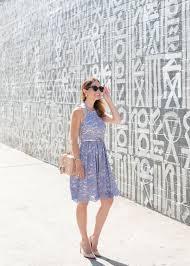 blue lace halter dress