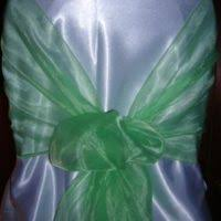 mint chair sashes organza chair sashes archives all seasons party linen rental