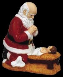 santa and baby jesus picture 26000 jpg
