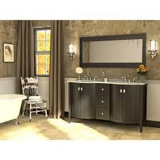 bathroom design black polished wood double bathroom vanities