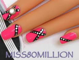 punky pink nail art tutorial youtube