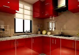 Transform Kitchen Cabinets by View In Gallery Red Kitchen Cabinets With Black Countertop For The