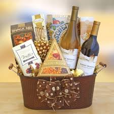 gift baskets with wine celebrate mondavi wine gift basket california delicious