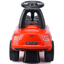 bentley red children u0027s ride on car bentley continental gt toy licensed with
