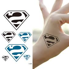 waterproof temporary tattoo post small superman logo as pure and