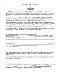 last will and testement form person signing a will and testament