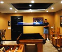 Ping Pong Pool Table Pool Table With Hidden Ping Pong Table Top Retracts Into The Ceiling