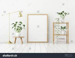 how to frame a floor vertical poster mock wooden frame on stock illustration 597946622