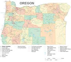 The Oregon Map by Oregon Travel Guide