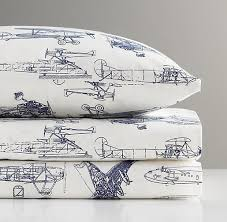 Vintage Aviator Crib Bedding Vintage Airplane Blueprint Crib Fitted Sheet