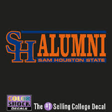 alumni decal sam houston state bookstore colorshock alumni decal