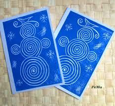 modré zimní přání zboží prodejce pema fler cards