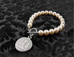 alpha kappa alpha legacy letters sorority pearl bracelet letters